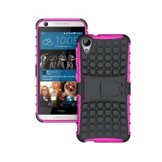 UEKNT Hybrid Dual Layer Tough Heavy Duty Perlindungan Shockproof Protective Kickstand Cover Case untuk HTC Desire 626 (Pink) -Intl