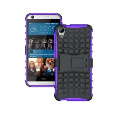 UEKNT Hybrid Dual Layer Tough Heavy Duty Perlindungan Shockproof Protective Kickstand Cover Case untuk HTC Desire 626 (Ungu) -Intl
