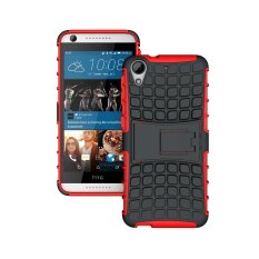 UEKNT Hybrid Dual Layer Tough Heavy Duty Perlindungan Shockproof Protective Kickstand Cover Case untuk HTC Desire 626 (Merah) -Intl