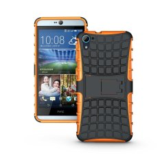 UEKNT Hybrid Dual Layer Tough Heavy Duty Perlindungan Shockproof Protective Kickstand Cover Case untuk HTC DESIRE 826/826 W (Orange) -Intl