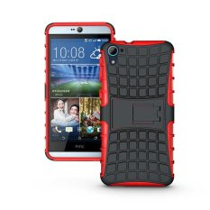 UEKNT Hybrid Dual Layer Tough Heavy Duty Perlindungan Shockproof Protective Kickstand Cover Case untuk HTC DESIRE 826/826 W (merah) -Intl