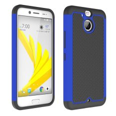 UEKNT Kasar Desain Sepak Bola Case dengan Absorption Shock Absorption Protective Cover Case untuk HTC 10 EVO (Biru) -Intl