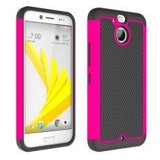 UEKNT Kasar Desain Sepak Bola Case dengan Absorption Shock Absorption Protective Cover Case untuk HTC 10 EVO (Pink) -Intl