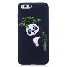 UEKNT Soft Case untuk Xiaomi Mi 6 Panda Silicone Perlindungan Shockproof Cover Case Embossed dengan Panda Memegang Bambu Desain- INTL
