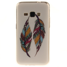 Ueokeird Colorful Feathers Printed Gel Rubber TPU Gel Silicone Soft Case Cover Skin Protective for Samsung Galaxy J3 2016 / J310 / J320 / Amp Prime / Express Prime - intl