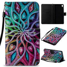Ueokeird Colorful Pattern Protective Stand Wallet Purse Credit Card ID Holders Magnetic Flip Folio TPU Soft Bumper PU Leather Ultra Slim Fit Case Cover for Sony Xperia E5 - intl