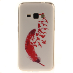 Ueokeird Colorful Red Feathers Printed Gel Rubber TPU Gel Silicone Soft Case Cover Skin Protective for Samsung Galaxy J3 2016 / J310 / J320 / Amp Prime / Express Prime - intl