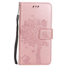 Ueokeird Fashion Pohon Pelindung Berdiri Dompet Dompet Kartu Kredit Pemegang Magnetic Flip Folio TPU Soft Bumper PU Leather Ultra Slim Fit Case Cover untuk Huawei Honor Holly 2 Plus/Nikmati 5/Y6 Pro-Intl