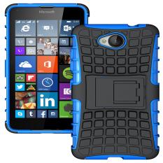Ueokeird Tugas Berat Lapis Ganda Anti Guncang Pelindung Hibrid Pelindung Cover dengan Kickstand Case untuk Nokia Lumia 650-Intl