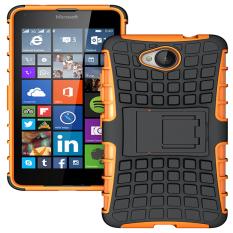 Ueokeird Tugas Berat Lapis Ganda Anti Guncang Pelindung Hibrid Penutup Pelindung dengan Tempat Stan Berdiri untuk Nokia Lumia 650-Intl