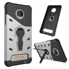 Ueokeird Heavy Duty Shockproof Dual Layer Hybrid Armor Protective Cover with 360 Degree Rotating Kickstand Case for Motorola MOTO Z Play - intl
