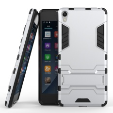 Ueokeird Hybrid Kickstand Rugged Rubber Armor Hard PC+TPU 2 In 1 With Stand Function Cover Cases for Sony Xperia E5