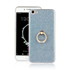 Ueokeird [RING Holder Kickstand] Gel Fleksibel TPU Rubber Soft Silicone Bling Glitter Sparkle Kembali Shock-Absorption Bumper Cover untuk Vivo X7 Plus-Intl