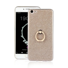 Ueokeird [Ring Holder Kickstand] Flexible Gel TPU Rubber Soft Silicone Bling Glitter Sparkle Back Case Shock-Absorption Bumper Cover for Vivo X7 Plus - intl