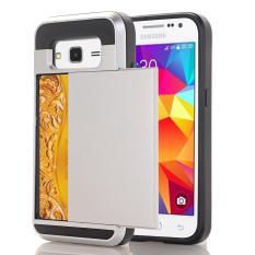 Ueokeird Dompet Kasus Kartu Pocket Dual Layer Hybrid Bumper Karet Pelindung Kartu Case Cover untuk SAMSUNG GALAXY CORE Prime G360 /Samsung Galaxy S3 LTE-Intl