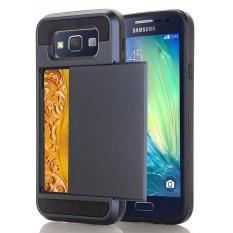 Ueokeird Dompet Kasus Kartu Pocket Dual Layer Hybrid Bumper Karet Pelindung Kartu Case Cover untuk Samsung