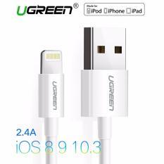 Top 10 Ugreen 5 M Mfi Bersertifikat 8 Pin Usb Lightning Cable Untuk Iphone 6 6S 5S Ipad Putih Online