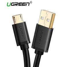 UGREEN 50CM Micro USB Charging Cord Charge Cable for Samsung Xiaomi Redmi LG Oppo Vivo Handphone hp Black