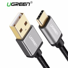 UGREEN 1Meter Type-C Cable for Samsung S8, Huawei P10, Xiaomi 6USB Type C Data Sync and Charger Cable Aluminium Case Braid Design (Black)