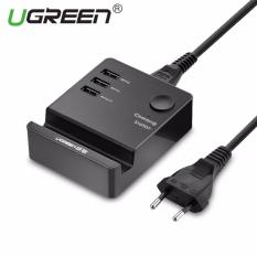 Situs Review Ugreen 20 W 3 Port Usb Wired Wall Charger Dengan Cradle Eu Plug Hitam