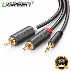 UGREEN 3.5mm For 2RCA Y Pria Pembelah Kabel headphone Audio For Ponsel (1.5 M)