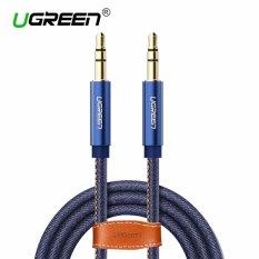 UGREEN 3.5mm untuk 3.5mm Jack Denim Kabel Audio Stereo AUX Kabel untuk Headphone Mobil Ponsel-1 M -Intl