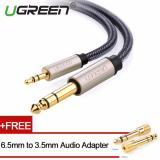 Jual Ugreen 3 5Mm Papan 6 5Mm Audio Kabel Nilon Dikepang With Audio Adapter 1M Branded Murah