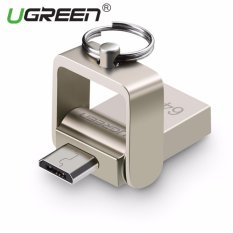 UGREEN OTG 64GB Flash Disk for Samsung, Xiaomi, Redmi Android Handphone 2 in 1 mikro OTG USB Flash Drive USB 2.0 seng logam U Disk kompatibel dengan perangkat Android