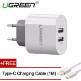 Jual Ugreen 5V3 4A Dual Usb Wall Charger Dan Gratis 1M Type C Kabel Charging Putih Eu Plug Intl Ugreen Grosir