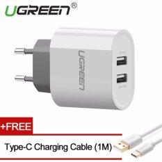 Spesifikasi Ugreen 5V3 4A Dual Usb Wall Charger Dan Gratis 1M Type C Kabel Charging Putih Eu Plug Intl Murah Berkualitas