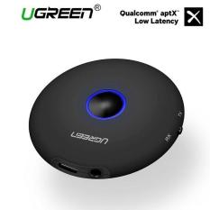UGREEN Bluetooth 4.2 Receiver pemancar Bluetooth Adapter 2 di 1 Wireless 3.5mm Adapter aptX HIFI rendah latensi 2 perangkat untuk TV/PC/Home Audio sistem hitam