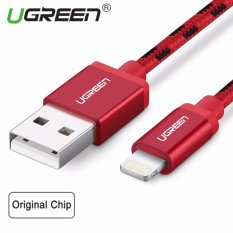 Spesifikasi Ugreen 2Meter Mfi Lighting Cable For Apple Iphone Metal Alloy Usb Lightning Cable Usb Charger Cable Nylon Bradied Design For Iphone 4 5 6 7 Ipad Red Paling Bagus