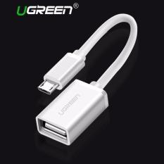 UGREEN mikro USB 2.0 OTG kabel di pergi adaptor USB mikro laki-laki ke perempuan USB untuk Samsung S7 S6 Edge S4 S3, LG G4, Dji Spark Mavic Remote kontrol Smartphone Android Windows tablet (putih)