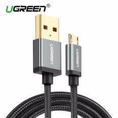 Jual Beli Ugreen 1 5Meter Micro Usb Cable For Samsung Xiaomi Redmi Asus Zenfone Lg Handphone Hp Nylon Dikepang Micro Usb Kabel Pengisian Kabel Untuk Ponsel Android Hitam