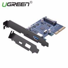 UGREEN PCI Express Card dengan USB 3.1 TYPE C Port dan USB 3.1 Tipe A Port