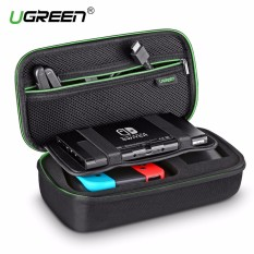 UGREEN Shockproof Case for Nintendo Switch Travel Carrying Case Bag Pouch with Carved EVA Liner, for Nintendo Switch Console, AC Wall Charger, Grip and Joy-con, 10 Games Cards, Strapes-Large Size - intl
