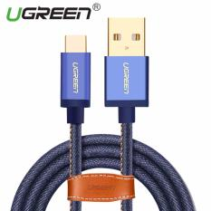 UGREEN Type C Denim kabel mengepang sinkronisasi dan pengisian cepat kabel Data untuk Android ponsel - 2 m - International