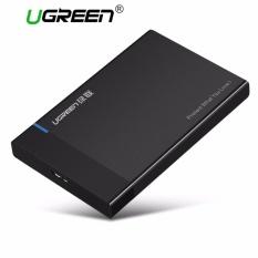 UGREEN Enclosure Harddisk Eksternal USB 3.0 dari Harddisk Eksternal SATA untuk 2.5 Inch HDD dan SSD Hingga 6TB, Mendukung UASP Warna Hitam