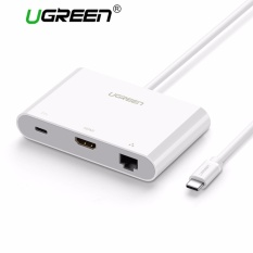 Promo Ugreen Usb C To Ethernet Hdmi Adapter With Usb 3 Usb 2 Hub Usb Type C For Power Delivery Lan Adapter For 12 Inch Macbook Chromebook Pixel And Other Usb C Devices Intl