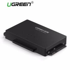 UGREEN USB Ke IDE Converter, USB 3.0 untuk SATA dan IDE, Hard Drive Adaptor untuk 2.5/3.5 Inch IDE, SATA HDD SSD, CD/DVD ROM CD-RW, COMBO, DVD-RW.DVD-RAM dengan 12V2A Adaptor Daya dan 4pin Kabel Daya, dengan ON/OFF Switch EU Plug-Intl