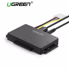 UGREEN USB Ke IDE Converter, USB 3.0 untuk SATA And IDE, Hard Drive Adaptor Papan 2.5/3.5 Inch IDE, SATA HDD SSD, CD/DVD ROM CD-RW, COMBO, DVD-RW.DVD-RAM With 12V2A Adaptor Daya And 4pin Kabel Daya, With ON/OFF Switch UK Plug