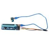 Uinn Mining Kartu Grafis Pci E Ke Pcie 1X Untuk 16X Pce164P No3 Power Supply Usb 3 Pengiriman Acak Intl Original