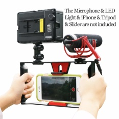 Jual Ulanzi Smartphone Video Handle Rig Pembuatan Film Stabilizer Case Film Video Youtube Mendapatkan Led Light Rode Videomicro Mikrofon Intl Murah
