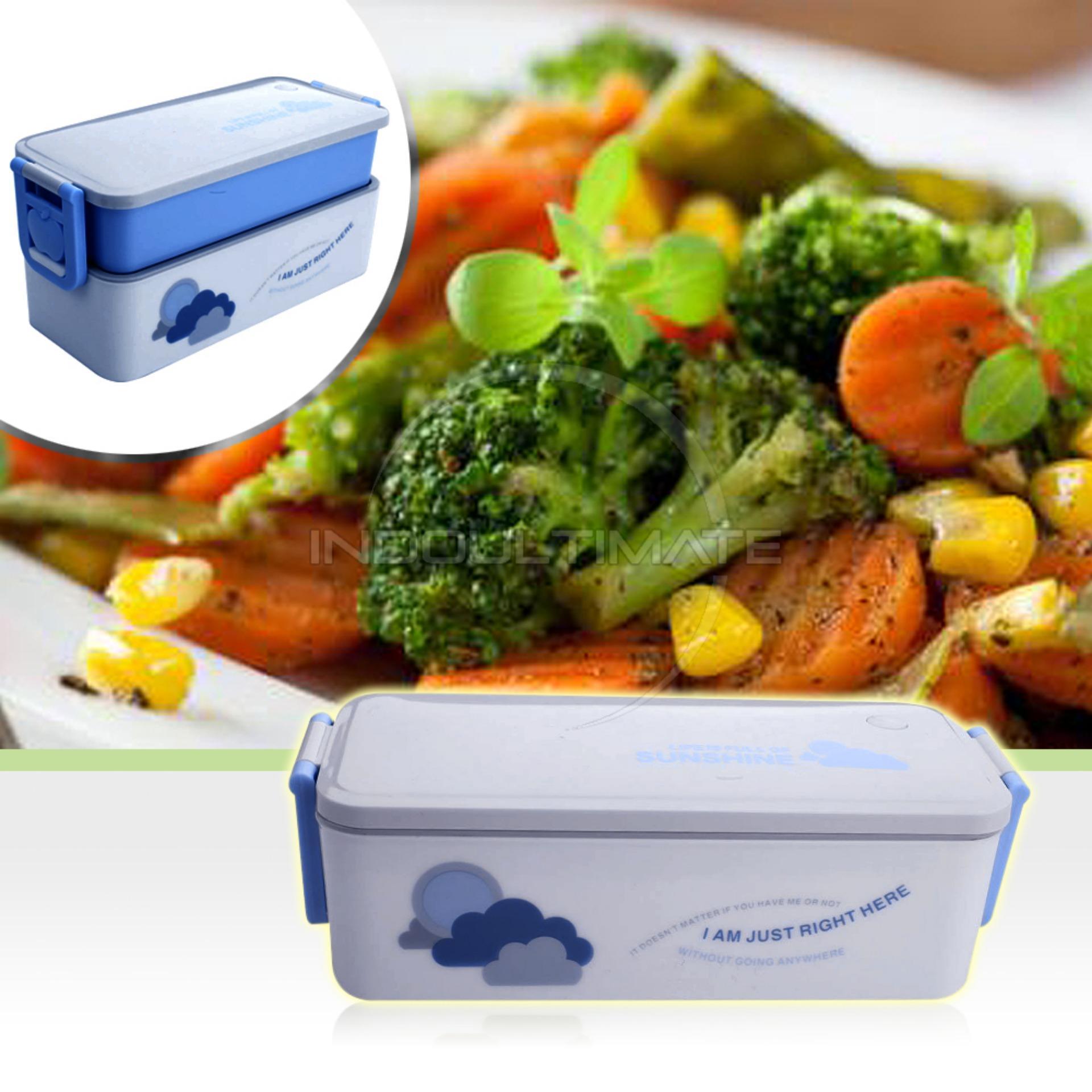Spesifikasi Ultimate Bento Box Korean Style 2In1 Bekal Makan Tempat Makan Ala Jepang Bento Lunch Box Hl Rn 05 Blue Murah