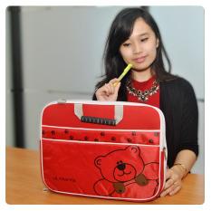 Ultimate Tas/Bag/Softcase/cover/Backpack Laptop Triple Bear 14 inch - Merah