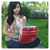 Promo Ultimate Tas Bag Softcase Cover Backpack Laptop Triple Flower 12 Merah Ultimate Terbaru