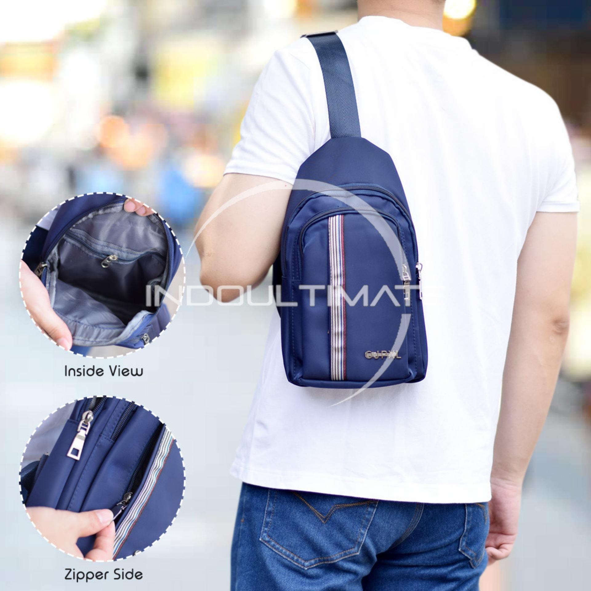 Dapatkan Segera Ultimate Tas Pria Tb 9868 Dark Blue Tas Kerja Selempang Slempang Import Korea Kecil Batam Traveling Murah