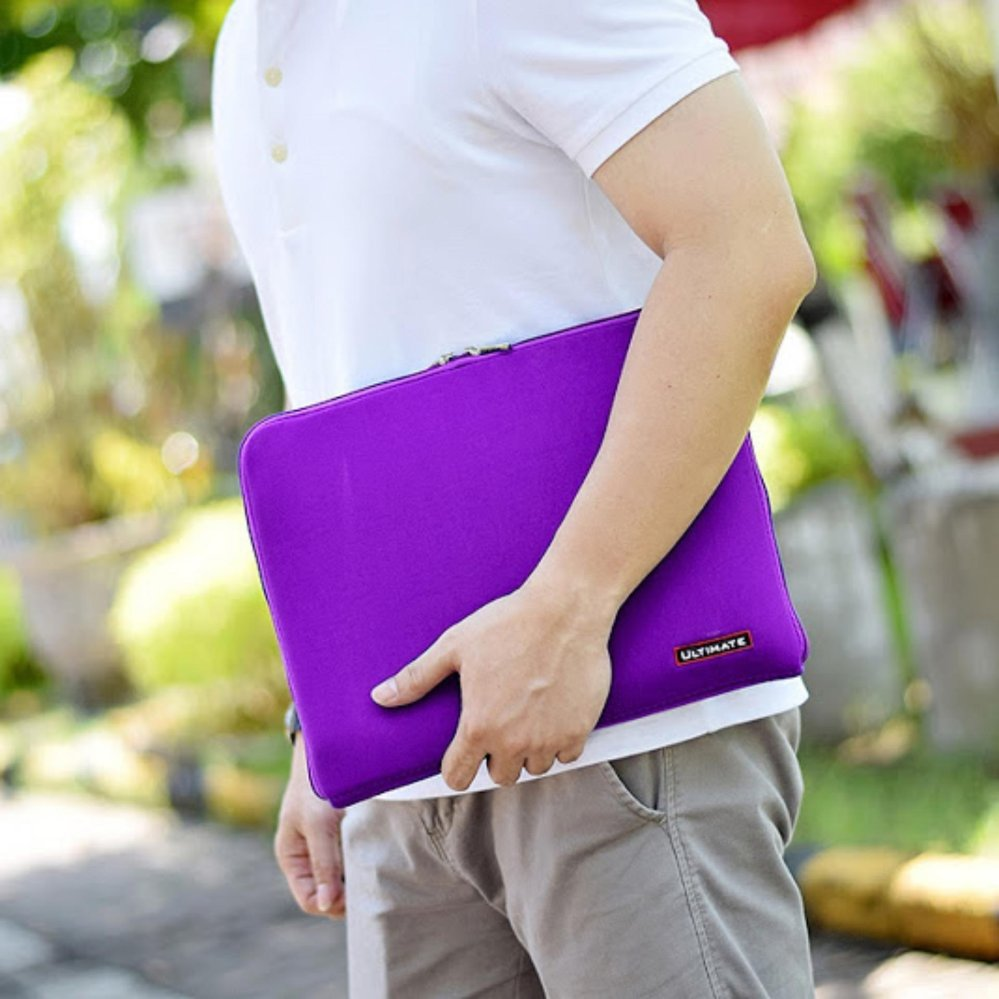 ULTIMATE Tas/Bag/Cover/Softcase/Backpack Laptop pria/wanita Classic 14 Inchi- PURPLE