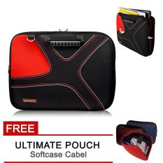 Harga Ultimate Tas Bag Cover Softcase Backpack Laptop Pria Wanita Double X 12 Inch Red Free Ultimate Cable Pouch Ultimate