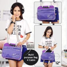 Ultimate Tas Bag Softcase Cover Backpack Laptop Triple Flower 12 Purple Ultimate Diskon 50